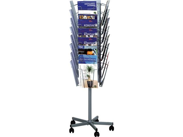 Mobile 32 Brochure Stand (Silver - 32 * A4)
