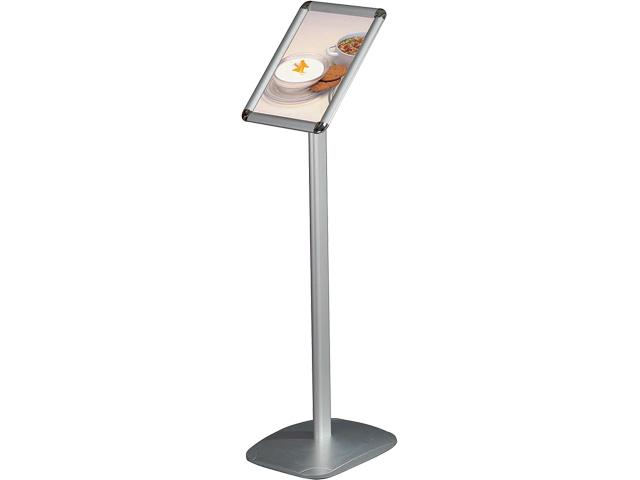 Expo Info Stand, Vertical (Alu/Silver - A4 - 21,0*29,7 cm)