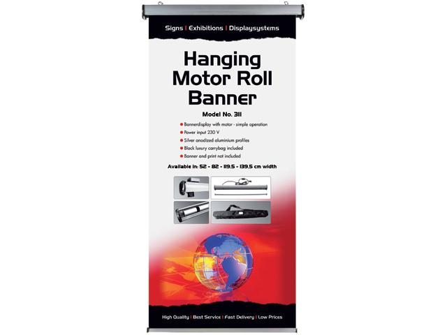 Marketing Exhibition Stand Xo : Hanging motor roll banner single sided up