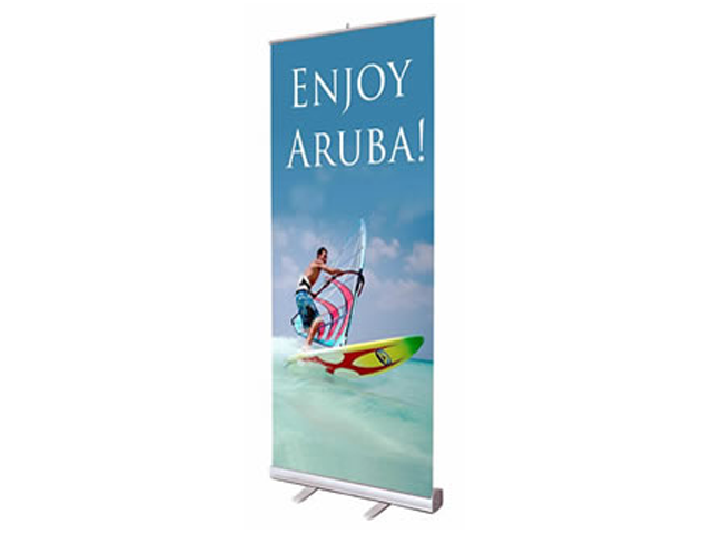 Roll-Out Banner with Graphic Print - Roll Up Banner Stands, Roll ...